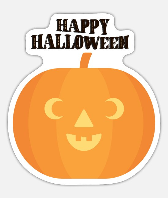 Celebrate Stickers - PUMPKIN TO CELEBRATE - Sticker white mat