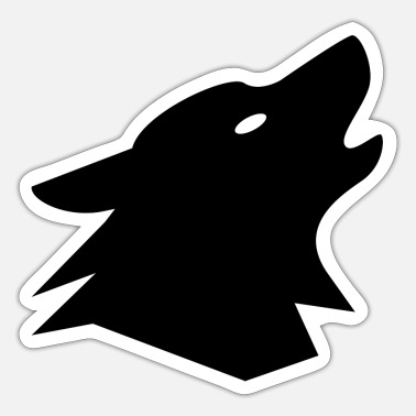Grafikkunst Monito Wolf - Sticker