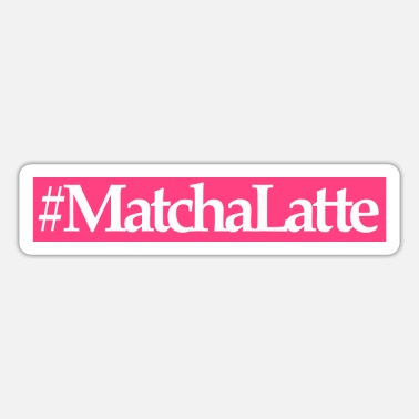 Latte matcha latte - Sticker