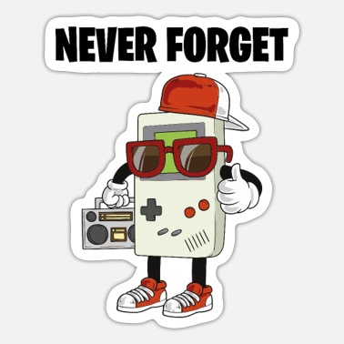 Boom Box Vintage Retro 70s 80s Flower Power Never Forget - Sticker