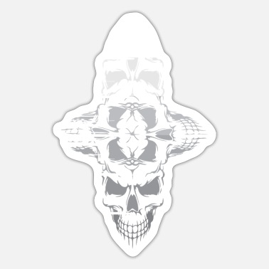 Skull And Crossbones Skull skull skull and crossbones - Sticker