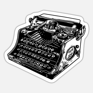 Old typewriter - Sticker