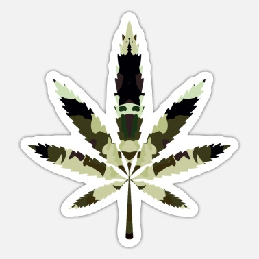 Cannabis, hemp, camouflage - Sticker