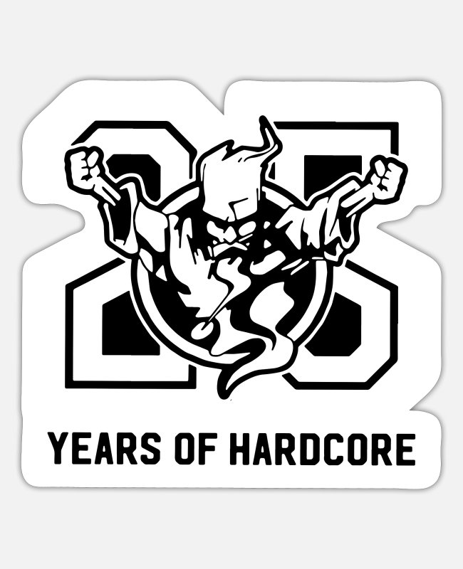 Thunderdome Stickers - 25 jaar Thunderdome - Sticker mat wit