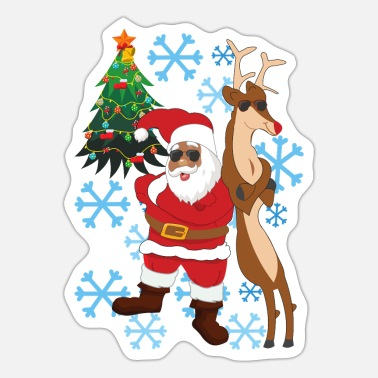 Colour wematter: Black Santa 2020 Weihnachtspullover - Sticker