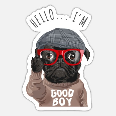 Good Boy Pug Collection / Mops Hund Pug Good Boy Good boy - Sticker