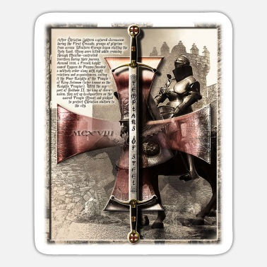 Templar Templars of Steel - The Letter - Sticker