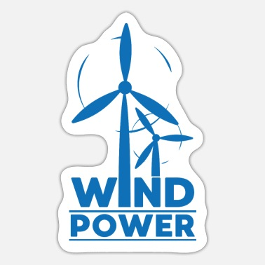 Global Wind power environmental protection gift environment - Sticker
