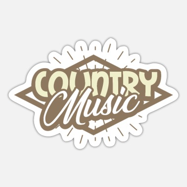 Country Country musik - Sticker