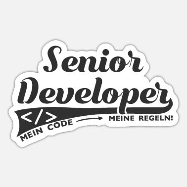 Senior Senior Developer Software Entwickler Geschenk Nerd - Sticker