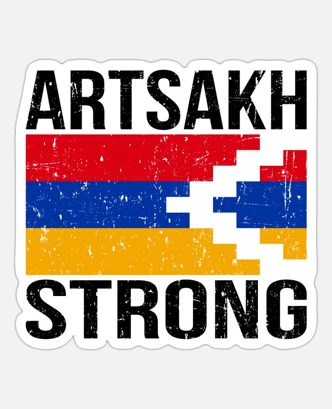 Nagorno-karabakh Republic Stickers - Artsakh Strong - Artsakh is Armenia - Armenian - Sticker white mat
