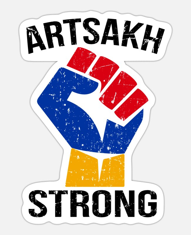 Nagorno-karabakh Republic Stickers - Artsakh Strong Shirt - Sticker white mat