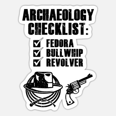 Archaeology Archaeology Checklist - Sticker