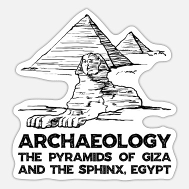 Archaeology Archaeology The Pyramids of Giza and the Sphinx - Sticker