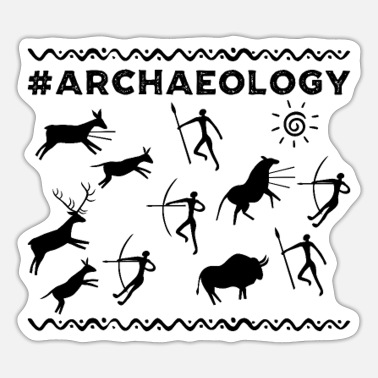 Archaeology Archaeology cave art - Sticker