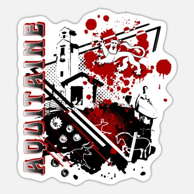 Region Aquitaine-regionen - Sticker