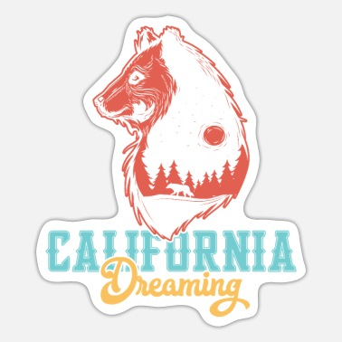 Hollywood California Bear Dreaming - Sticker