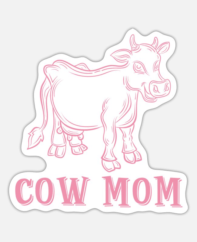 Muh Stickers - Cow mother - Sticker white mat