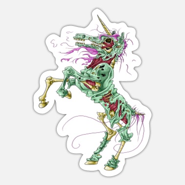 Hind Unicorn zombie - Sticker