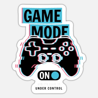 Shoot Em Up Game mode on - Sticker