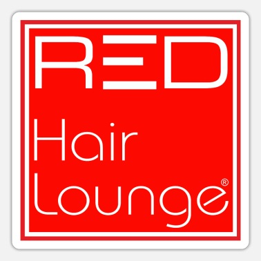 Lounge RED Hair Lounge - Sticker