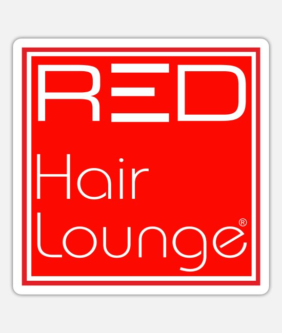Ludwigsburg Sticker - RED Hair Lounge - Sticker Mattweiß