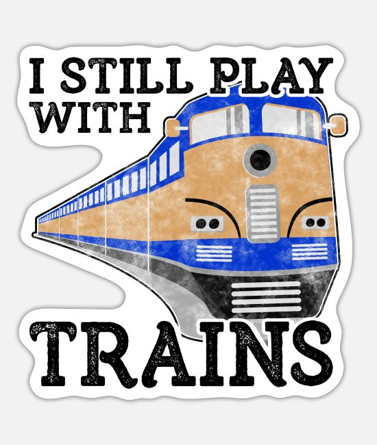 Training Stickers - Train Lover Gift Railroad Gift Still Play with - Sticker white mat