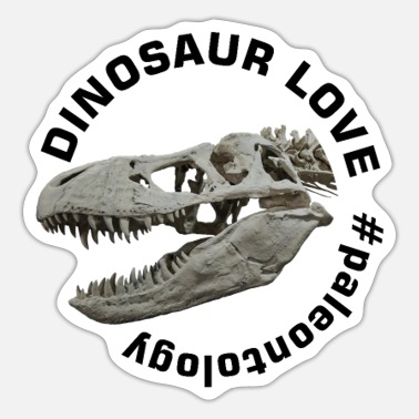 Paleontology Dinosaur Love Paleontology - Sticker