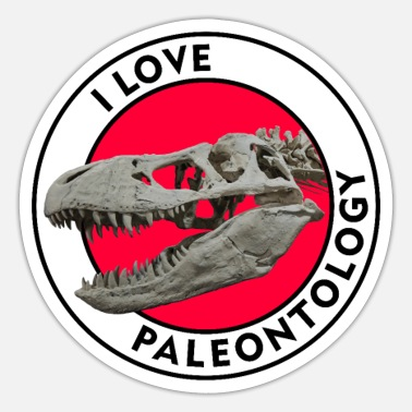 Paleontology I Love Paleontology - Sticker