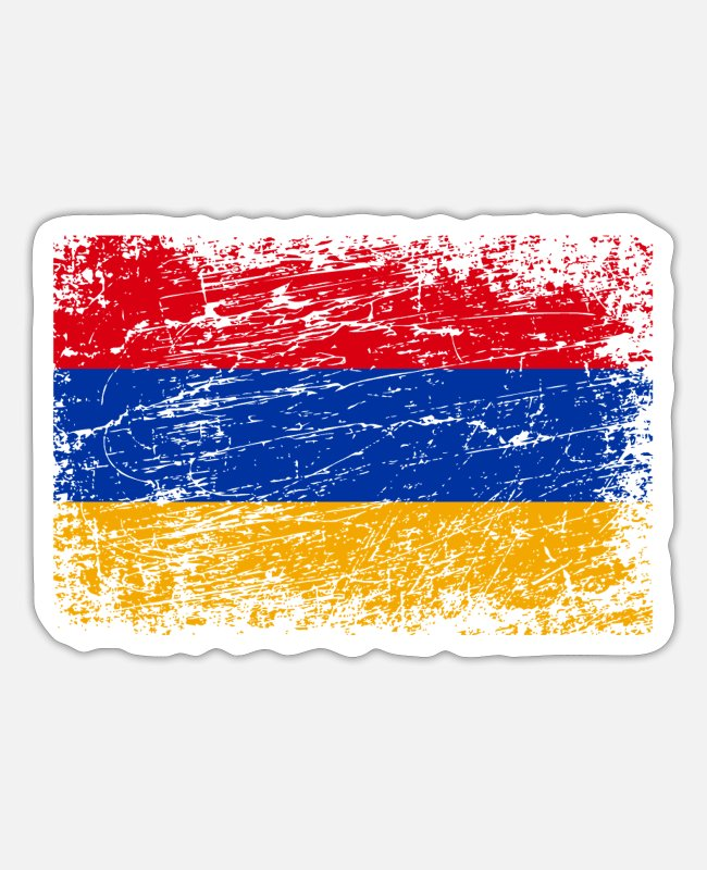 Armenia Stickers - Armenia armenian flag flag - Sticker white mat