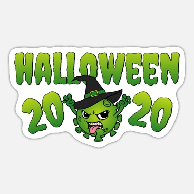 Halloween Halloween 2020 Corona Virus Böse Hexe Witch Hexen - Sticker
