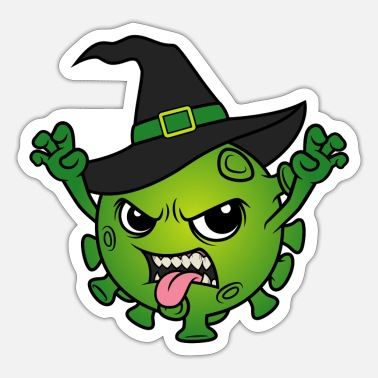 Halloween Halloween 2020 Corona Virus Witch Hexen Böse Hexe - Sticker