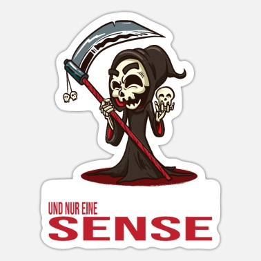 So Scythe Grim Reaper Horror Scary Scared Bloody Zomb - Sticker