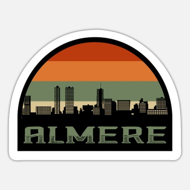 Holland Almere Netherlands Skyline Silhouette Dutch Flag - Sticker
