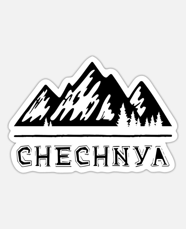Mountains Stickers - Chechnya Chechnya Chechen Chechen - Sticker white mat