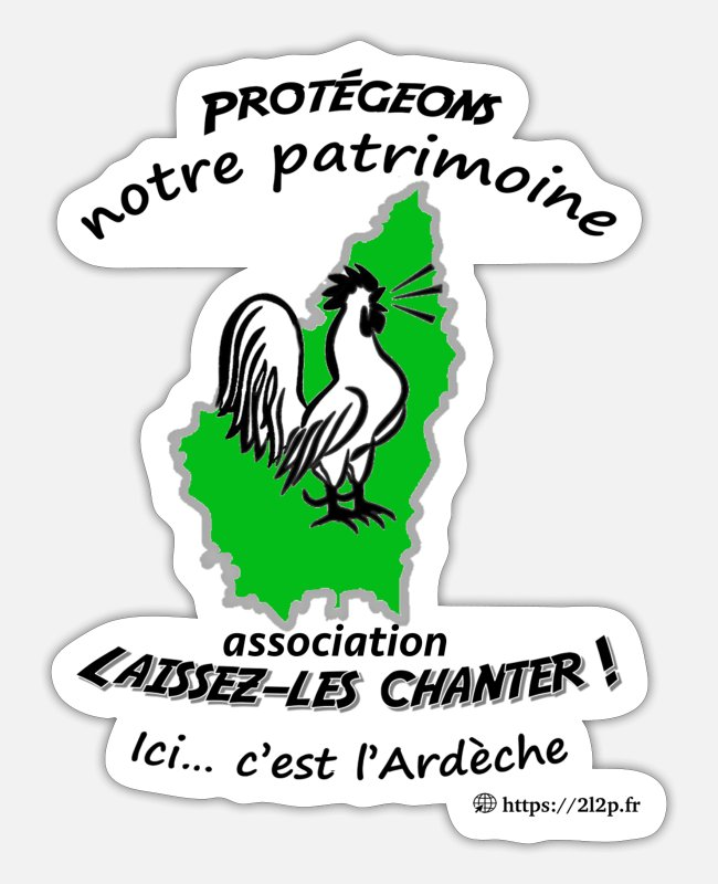 Elect Stickers - Protect our heritage: Ardèche (light) - Sticker white mat