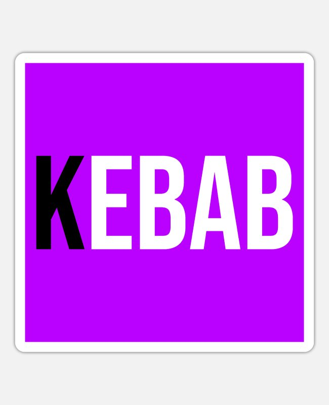 Restaurierung Sticker - Kebab Fast Food - Sticker Mattweiß