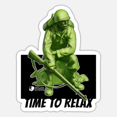 Ww2 WW2 USA Soldier 001 - Sticker