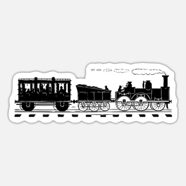 Tain Train Lover Gifts Vintage Railroad Train - Sticker