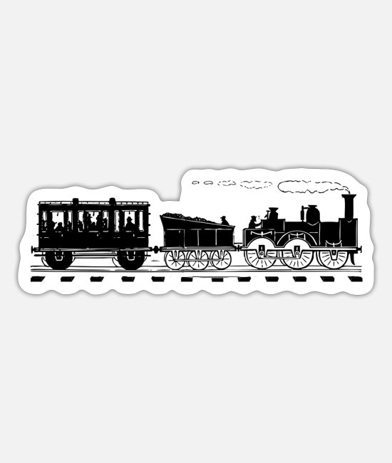 Training Stickers - Train Lover Gifts Vintage Railroad Train - Sticker white mat