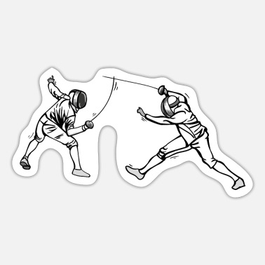 Historical Fencing A pair of swordsmen in combat. Swords, sabers - Sticker