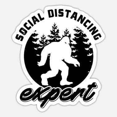 Social Distancing Funny Social Distancing Expert - Sticker