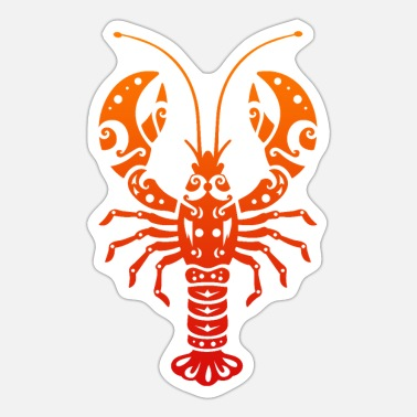 Tattoo Maori Lobster Polynesian Tribal Tattoo Gift - Sticker