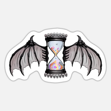 Bat Wings Candy Hour glass with Bat Wings - Sticker