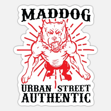 Pet Maddog urban street autentisk - Sticker