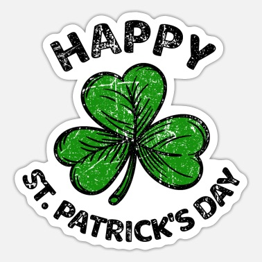 Shamrock St. Patricks Day tillykke med Patty Paddy - Sticker