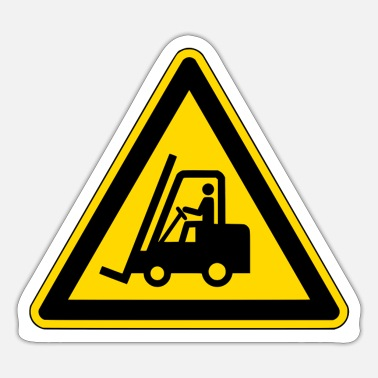 Warning Sign Forklift warning sign - Sticker
