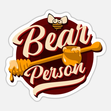Bear Chubby Bear Cuddly Bear Teddy Bear Bear - Sticker