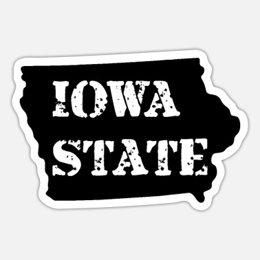 Staten Iowa-staten - Sticker