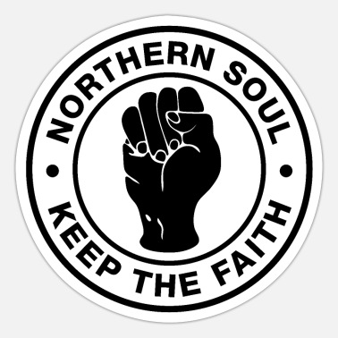 Northern Soul Northern Soul - Keep the Faith - White Logo - Sticker